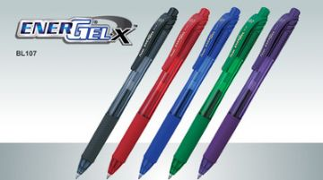 8 x PENTEL ENERGEL X BL107 RETRACTABLE GEL ROLLERBALL PEN 0.7mm Ball